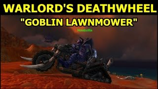 New World of Warcraft Mount Warlord's Deathwheel aka Goblin Lawnmower