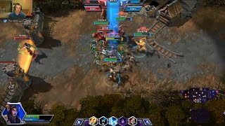 Competitive Heroes of the Storm Gameplay - Tyrande - 5 man rush