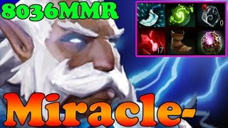Dota 2 - Miracle- 8036MMR TOP 1 MMR IN THE WORLD Plays Zeus - Ranked Match Gameplay