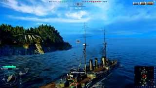 World of Warships (атака торпедоносца)