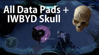 Halo 5: Guardians Mission Osiris all Data Pads + IWBYD Skull