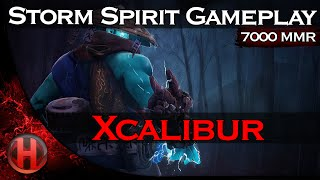 Xcalibur 7000 MMR Storm Spirit Gameplay Dota 2