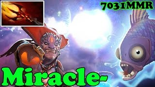 Dota 2 - Miracle- 7031 MMR Plays Lion - Ranked Match Gameplay