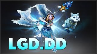 [Dota2] LGD DD Pro Crystal Maiden Arcana Support Ranked MMR Game [ LGD DD Gameplay ]