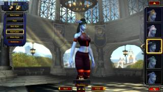 World Of Warcraft Warlords of Draenor Beta Female Draenei Customization (Updated Models)