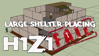 H1Z1 - Removing Large Shelters Once Built On - Failed