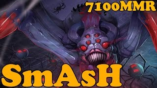 Dota 2 - SmAsH 7100 MMR Plays Broodmother - Ranked Match Gameplay