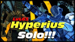 Borderlands 2 Mak vs Hyperius Level 63 Solo!!! Using The Zero Bore Shot Singularity Technique!