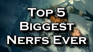 Top 5 Biggest Nerfs of All Time in League of Legends History | LoL Top 5s