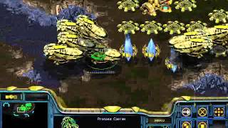 StarCraft Brood War - Protoss vs 7 Random Computer - Map: Big Game Hunters (Walkthrough)