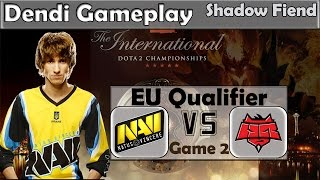 Dendi - Shadow Fiend Gameplay | Na'Vi vs HR Game 2 | TI5 Eu Qualifier