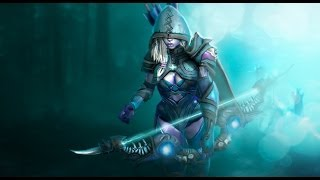 Dota 2 Drow Ranger - Death Shadow set preview
