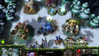 Warcraft III: The Frozen Throne (gameplay, Night Elves, HD, polish version)