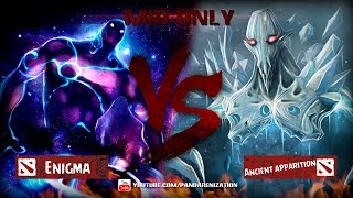 Enigma VS Ancient Apparition [Битва героев Mid only] Dota 2