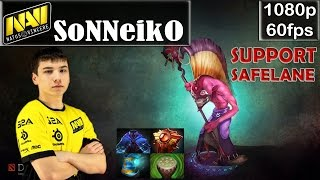 Sonneiko (Na'Vi) - Dazzle Support Safelane | Dota 2 Pro MMR Gameplay