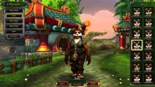 Female Pandaren Character Creation - World of Warcraft Mists of Pandaria