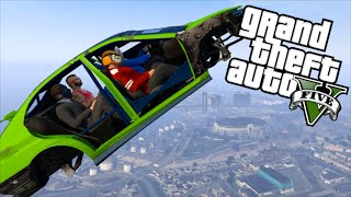 GTA 5 Fun - Flying Car Glitch, Stupid Cop, Tank Mugger (Grand Theft Auto V Funny Moments)