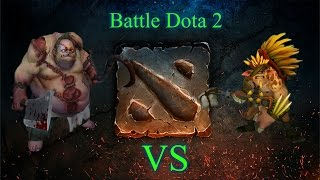 Battle Dota 2 - Bristleback vs Pudge