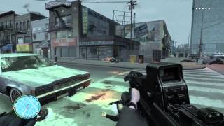 GTA IV - First Person Mod (Driving + Shootout)