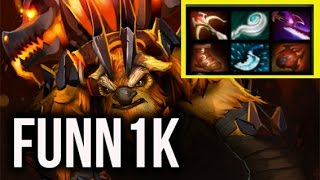 Navi Funnik Carry Earth Shaker MMR Gameplay 15k comeback Dota 2 Highlights