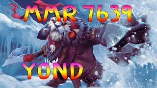 [Dota2] y0nd 7683 MMR Pro Plays Heroes tusk Carry Ranked Game [ yOnd Gameplay ]