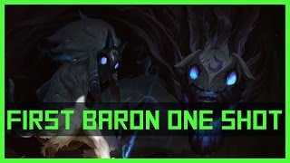 Kindred solo Baron Nashor first actual ONE shot (28.844 Dmg) | League of Legends