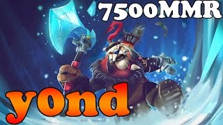 Dota 2 - Y0nd 7500 MMR Plays Tusk Vol 4# - Ranked Match Gameplay
