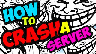 Minecraft Trolling: How to crash a server! OOPS!
