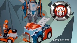Transformers Rescue Bots Playskool Heroes Action Figure Set Sawyer Storm Rescue Winch Toy Review