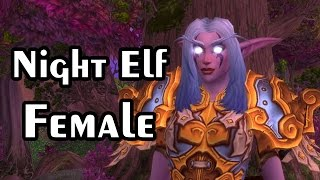 NIGHT ELF FEMALE Character Models for World of Warcraft - Warlords of Draenor WOD