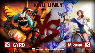 Gyrocopter VS Mirana [Битва героев Mid only] Dota 2