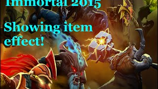 Dota 2 - Showing the effect of immortal 1 2015 items! Horror Fox