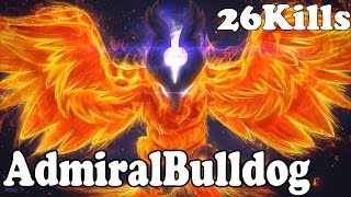 Dota 2 - AdmiralBulldog 6k MMR Plays Phoenix 26 KILLS - Ranked Match Gameplay