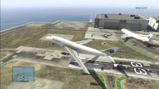 GTA 5 - Flying A Boeing 747