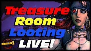 Borderlands 2 Treasure Room Legendary Chest Looting Live! Captain Scarlett & The Pirate Booty DLC!!!
