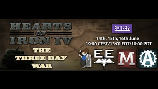 Hearts of Iron IV Multiplayer [The Three Day War]: Paradox Event Day 1