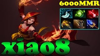 Dota 2 - xiao8 6000 MMR Plays Lina Vol 1 - Ranked Match Gameplay!