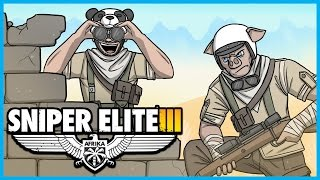 Sniper Elite 3 Funny Adventures! - GABEROUN - Stealth Kills, Triples, and Explosions!