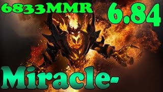 Dota 2 - Patch 6.84 Miracle- 6833 MMR Plays Shadow Fiend Vol 6# - Ranked Match Gameplay!