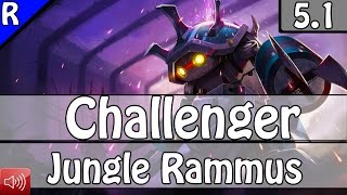 2265: Rabia as Rammus Jungle vs Vi - S5 Challenger Ranked Gameplay