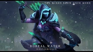 Dota 2 Drow Ranger - The Boreal Watch set review
