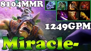 Dota 2 - Miracle- 8104MMR TOP 1 MMR in the World Plays Alchemist 1249GPM - Full Game - Ranked Match