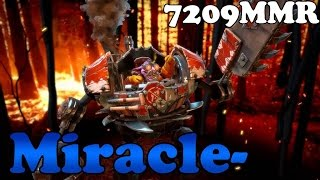 Dota 2 - Miracle- 7209 MMR plays Timbersaw vol 2# - Ranked Match Gameplay
