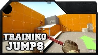 CS:GO - Jump Training Map - How to train advanced jumps on the Competitive Maps