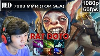 Jed (TOP SEA MMR) - Meepo Pro Gameplay Dota 2 | 7283 MMR | @60fps