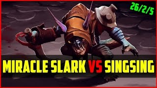 Miracle- 8K MMR) Slark vs SingSing | Ranked DOTA 2 gameplay