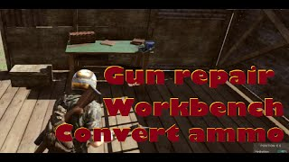 H1Z1 - Tutorial 12 - How to convert ammunition, make gun repair and use of workbench