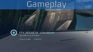 Halo 5: Guardians - FFA Rockets on Colesium Gameplay [HD 1080P/60FPS]