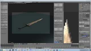 Blender Modeling - Realistic Sword (Skyrim) Mesh and Textures