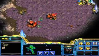 Let's Play Starcraft Brood War 01: Protoss Mission 01 - Escape from Aiur